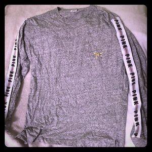 VS Pink Long Sleeve Sequin Dog Shirt